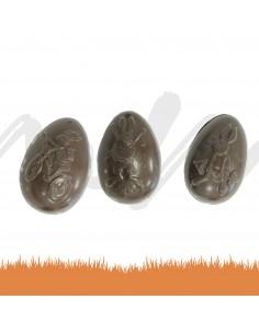 Oeuf chocolat noir 80g +...